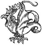 Representación de un Basilisco datada hacia 1510